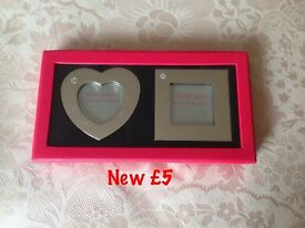 Valentines photo frames £5