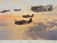 Robert Taylor In Gallant Company Limited Signed Aviation Print
