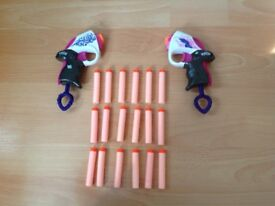 Set of Two Nerf Guns with Bullets