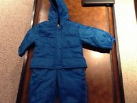 Blue one piece snowsuit, 18 months