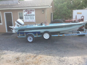 Bass boat Ranger 17''And matching trailer ,served,110 hp,$4500.0