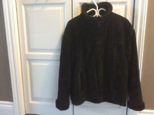 Women's Black Suede Winter Coat