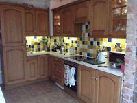 Kitchen units for sale solid oak includes dishwasher