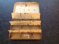 A Vintage Hardy Compartment fly box