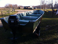 16 foot Aluminum Boat, excellent, hunting, fishing boat