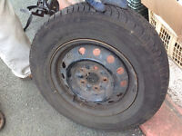 195/70R14 pair of all season tires with rims