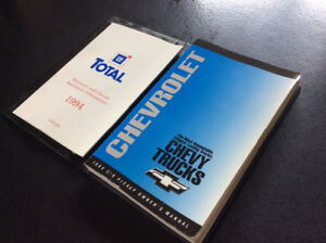 Owners Manual 1994 Chevy C/K pickup truck