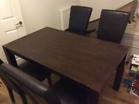 Kitchen table and 6 chairs - hardly used 75 pounds