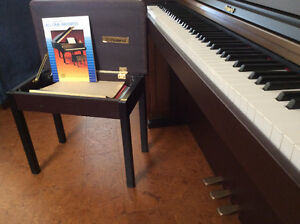 Piano made by Roland HP101-MM, bench with shortage compartment