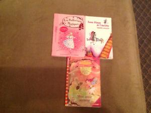 3 livres pour filles comme neufs