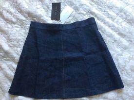 Zara Woman Jeans Skirt L New RRP £35.99