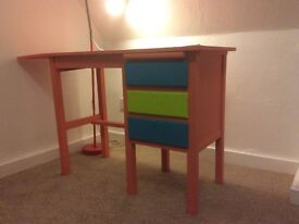 **Reduced** Small painted desk or dressing table for kids room - Bargain