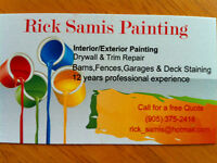 Rick Samis Painting / Cobourg and surrounding area only