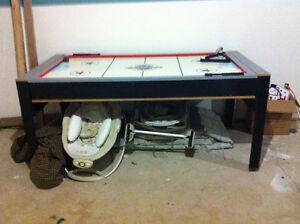 Table de pool convertible en table de hockey sur air