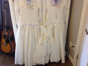 Dresses flower girl size 10 2 and one size 2 tiana