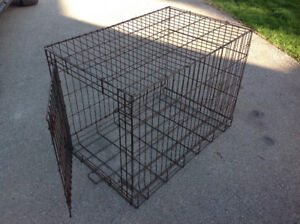 "Portable Folding Wire Dog kennel 36"" x 24"" x 28""H"
