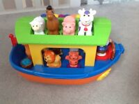 Noah ark muscial toy with animals