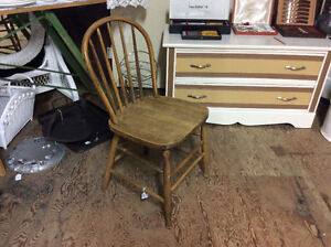 Set of 4 Vintage Antique Farm Kitchen Chairs