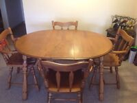 Solid wood kitchen table and chairs - $100 obo