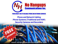 Phone and Network Cabling, Phone Systems, Security Cameras