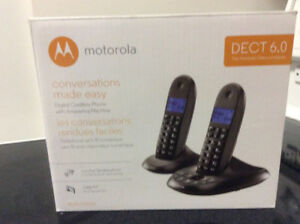 .  Motorola set phones cordless