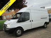 2007 07 FORD TRANSIT 2.4 T350 LWB HIGH ROOF. LOW 119K. FSH. FINANCE. PX WELCOME