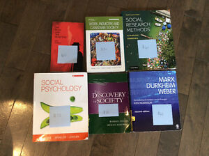 WLU sociology second year textbooks