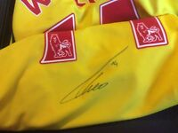 Limited addition arsenal shirt signed by Theo Walcott