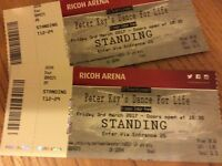 Peter Kay's Dance for Life tickets x 2, Ricoh Arena, Fri 3rd March