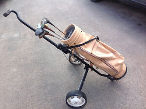 2 WHEEL GOLF CART/TROLLEY WITH GOLF BAG Oakville / Halton Region Toronto (GTA) image 1