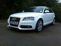 Audi A3 s line white