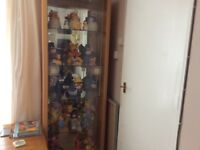 lovely glass display cabinet