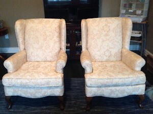 2 wing chairs