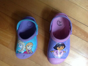 Crocks size 8/9 and 10/11 girls