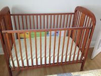 Crib and mattress for sale