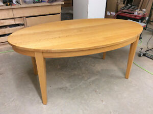 Solid oak, oval dining table