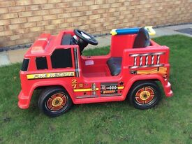 Ride on battery operated fire engine