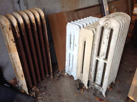 Antique iron radiators