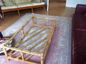 Lovely coffee table to enhance your decor, new $395. Rug $250.