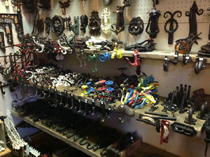 Armstrong,BC, Cast Iron hardware, registers, brackets, hinges,