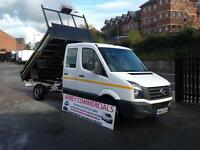 Volkswagen Crafter 2.0TDi CR35 LWB double cab tipper 2015 7 seater XLWB