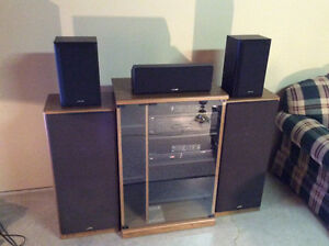 Home Theatre Surround Sound System Plus Cabinet