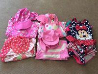 Girls swimming/beachwear bundle age 1-2