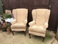 Matching pair Sherborne wingback fireside chairs