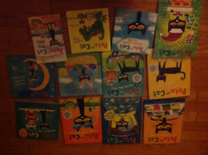 Twelve Pete, the Cat books plus The Meow Match Game