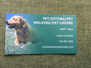 Pet Sitting / Pet Walking / Pet Loving