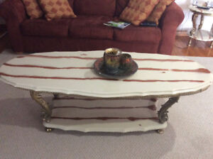 Authentic Marble Coffee Table Set (3)