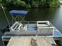 16 ft. pontoon with 25 hp Merc. 4 stroke
