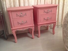 2 French style bedsides brand new