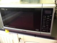 Panasonic silver combination microwave
